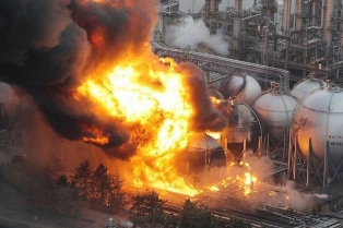 В Калифорнии горел завод компании «Chevron»